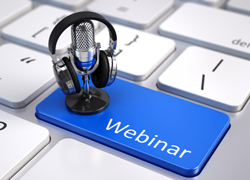 Webinar key on keyboard and mic